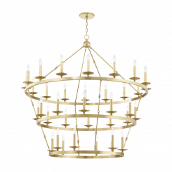 lighting allendal 3 tier chandelier aged brass