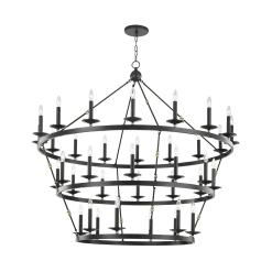 lighting allendal 3 tier chandelier aged old bronze