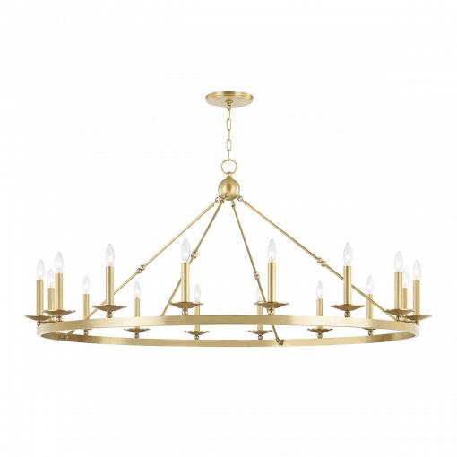 lighting allendale 16 light chandelier aged brass