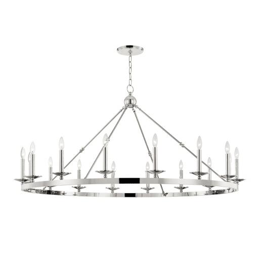 lighting allendale 16 light chandelier polished nickel