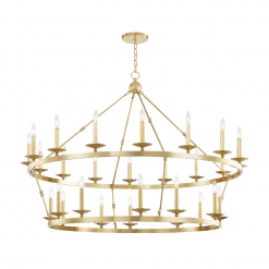 lighting allendale 28 light chandelier aged brass