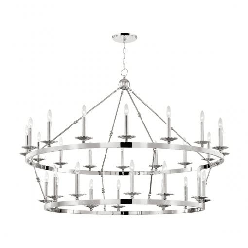 lighting allendale 28 light chandelier polished nickel
