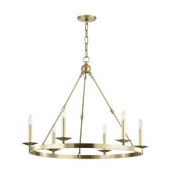 lighting allendale 6 light chandelier aged brass