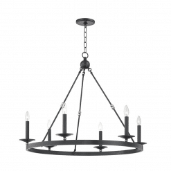 lighting allendale 6 light chandelier aged old bronze