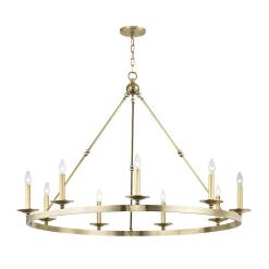 lighting allendale 9 light chandelier aged brass
