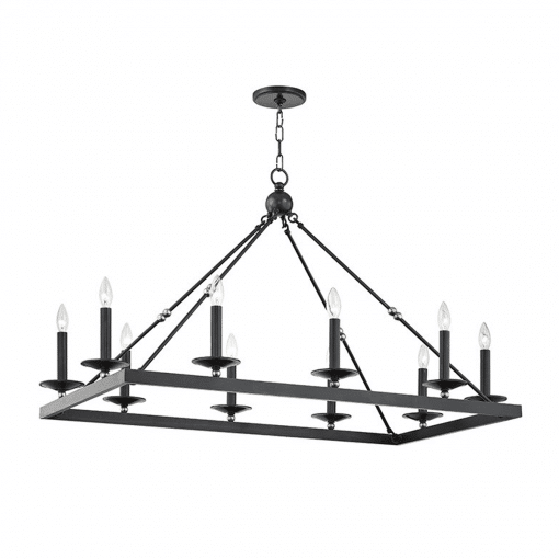 lighting allendale rectangular chandelier aged old bronze