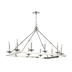lighting allendale rectangular chandelier polished nickel