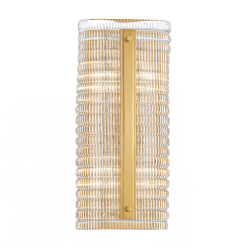 lighting athens wall sconce H16 aged brass
