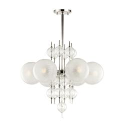 lighting calypso 6 light chandelier polished nickel