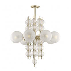 lighting calypso 8 light chandelier aged brass
