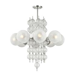 lighting calypso 8 light chandelier polished nickel