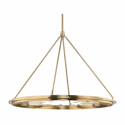 lighting chambers 12 light pendant aged brass