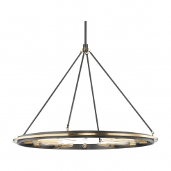 lighting chambers 12 light pendant aged old bronze