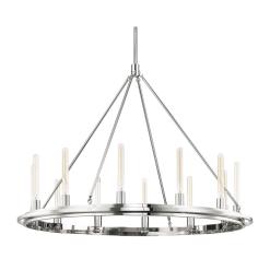 lighting chambers 12 light pendant polished nickel