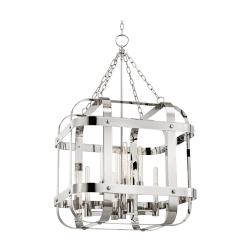 lighting colchester pendant 8 light polished nickel