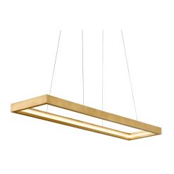 lighting jasmine rectangular gold