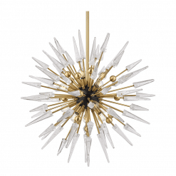 lighting sparta 12 light chandelier aged brass clear