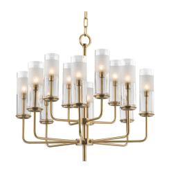 lighting wentworth 12 light chandelier aged brass