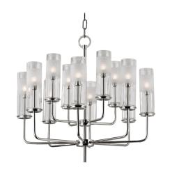 lighting wentworth 12 light chandelier polished nickel