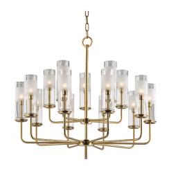 lighting wentworth 15 light chandelier aged brass