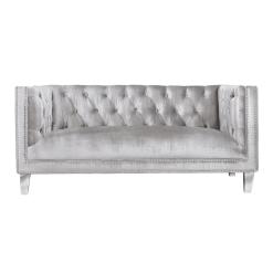 living room barcelona loveseat grey