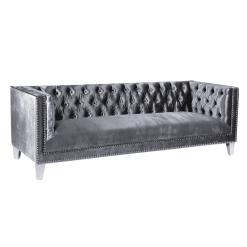 living room barcelona sofa charcoal velvet