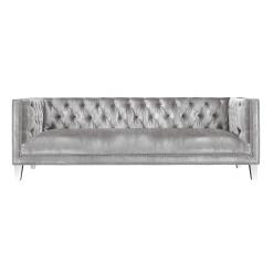 living room barcelona sofa grey velvet