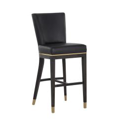 Bar stool alister bravo black leatherette