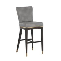 Bar stool alister bravo metal leatherette
