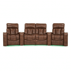 Home theatre paragon 4 seater front green LED