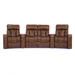 Home theatre paragon 4 seater front purple LED
