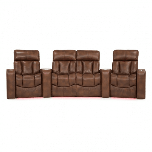 Home theatre paragon 4 seater front red LED