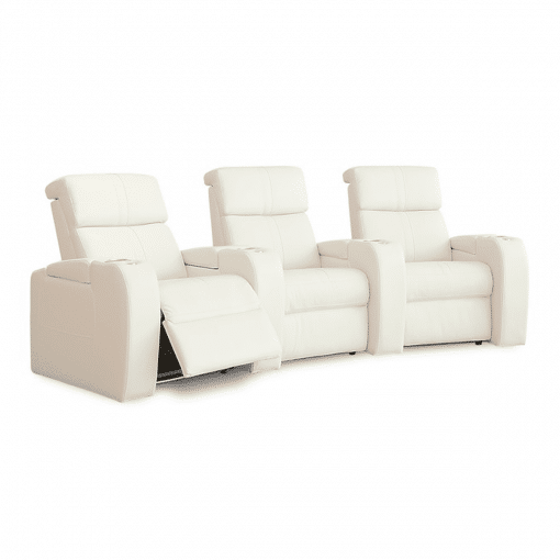 home theatre flicks 3 seater reclined