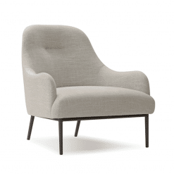 living room anister lounge chair light grey fabric