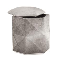 Ashanti storage ottoman grey open