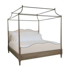 bedroom auberge poster with metal canopy bed