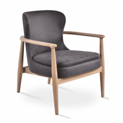 bonaldo lounge chair grey nubuck fabric ash wood natural