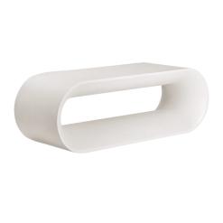 capsule bench white concrete