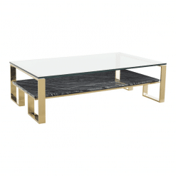 living room tierra coffee table black marble polished gold