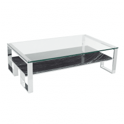 living room tierra coffee table black marble polished stainless