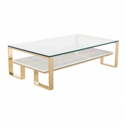 living room tierra coffee table white marble polished gold