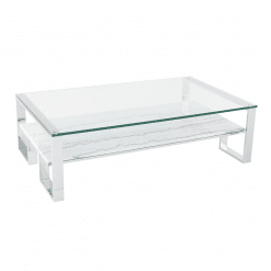 living room tierra coffee table white marble polished stainless