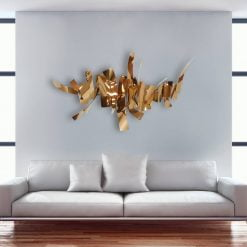 Chateau Wall Art in Rose Gold Living Room scaled