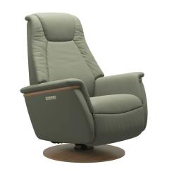 Stressless Max Power Chair Paloma Shadow Green and Oak