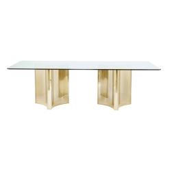 dining room abbott rectangular gold