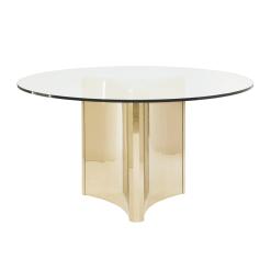 dining room abbott round gold