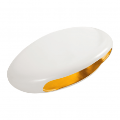 Grotto Coffee Table Pearl White and Gold angle