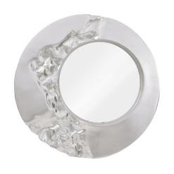 Mercury Mirror in Silver Leaf