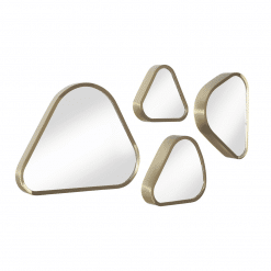 Pebble Set of 4 Mirrors Angle