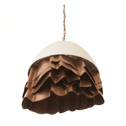 Ruffle Chandelier in White and Copper angle